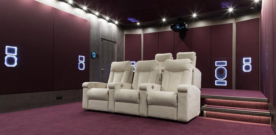 Кресла-реклайнеры для частных кинозалов