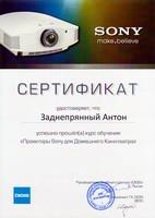 Certificate - Sony