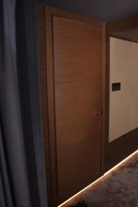 Acoustical door + Lutron