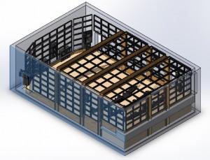 Пример модульной акустической оболочки домашнего кинозала