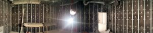 Каркас легкой акустической оболочки из Сурдопрофиля. Стены зашиты NoiseBlockpanel.