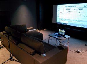 Процесс калибровки аудио системы кинозала