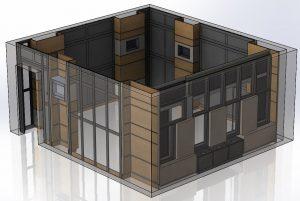 3D-модель реальной отделки кинозала