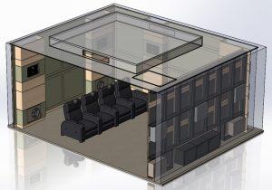 Техническая 3D-модель кинозала